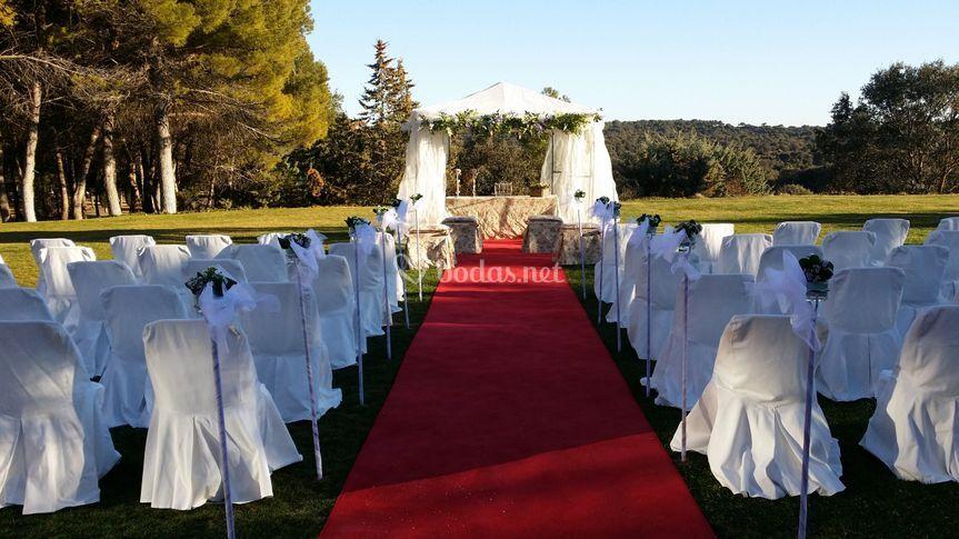 Ceremonia en la pradera