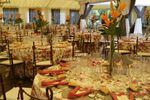 Banquete en la carpa de Finca Montealegre