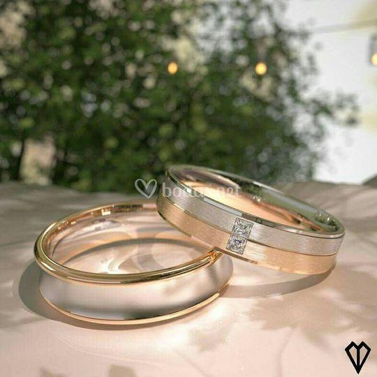 Oro rosa y oro blanco.
