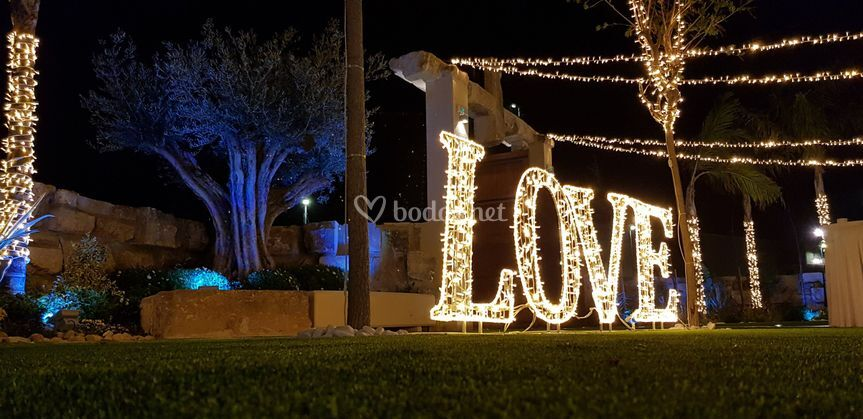 Jardin con love