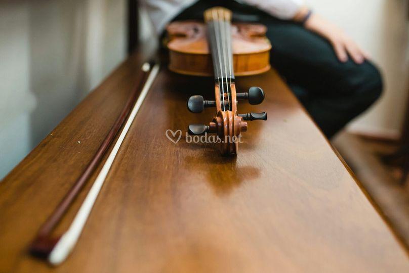 Detalle de violín