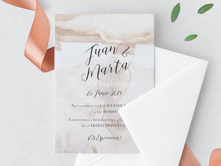 Invitación Rose and Gold