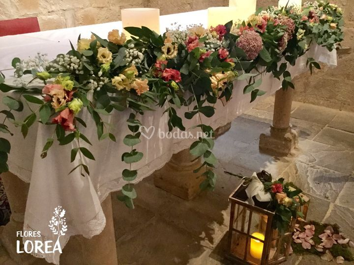 Guirnaldas florales altar