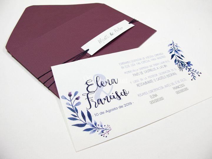 Invitación tarjetón apaisado