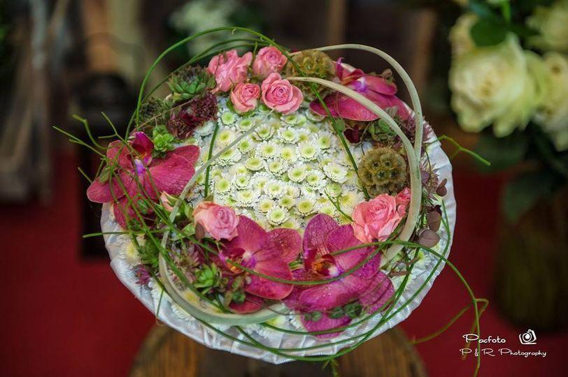 Ramo de novia de orquídeas
