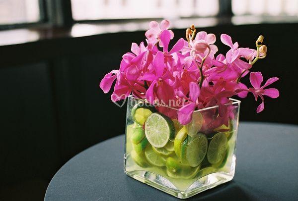 Centros de mesa con frutas - Frutas de cristal ...
