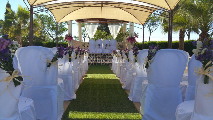 Ceremonia alfombra verde