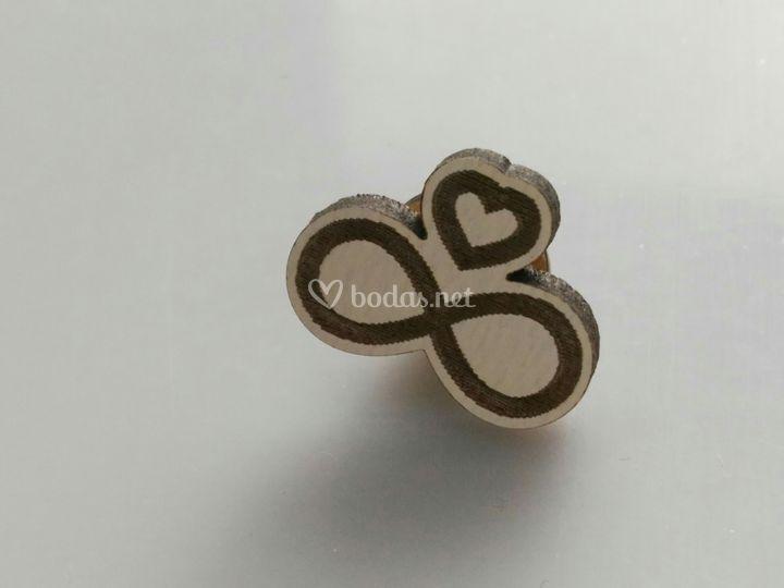 Pin de anillos boda