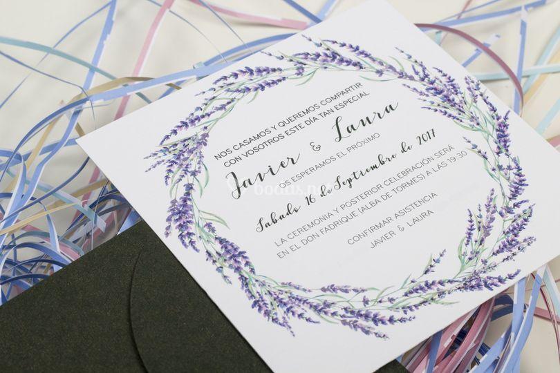Invitación Javier y Laura