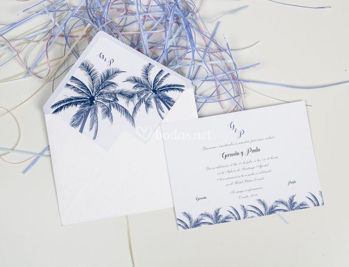 Invitación palmeras