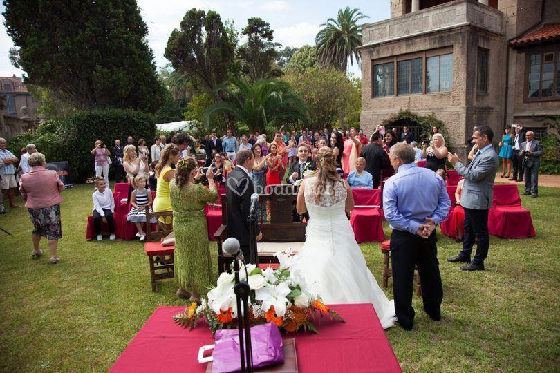 Panorámica de una boda civil
