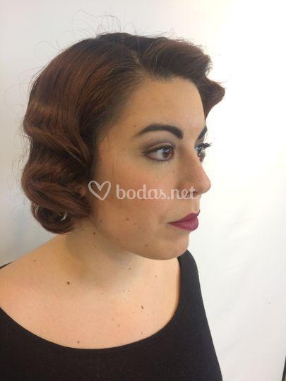 Maquillaje inspirado años 40