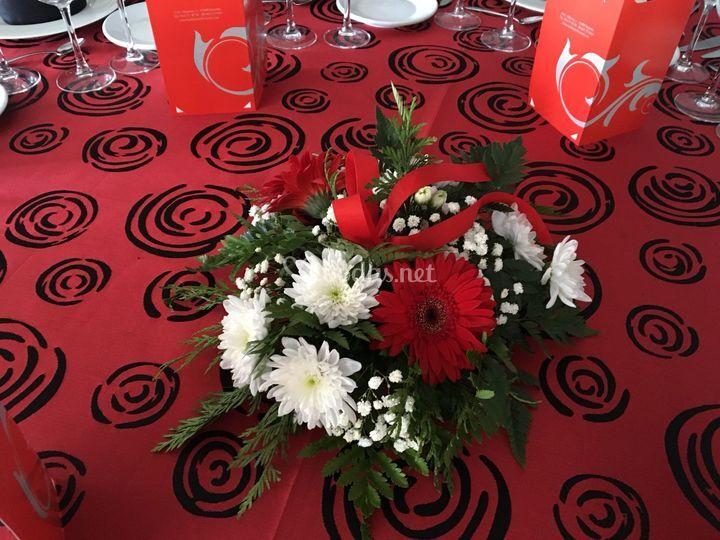 Centros mesa flor natural