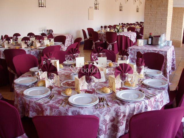 Mesas de invitados