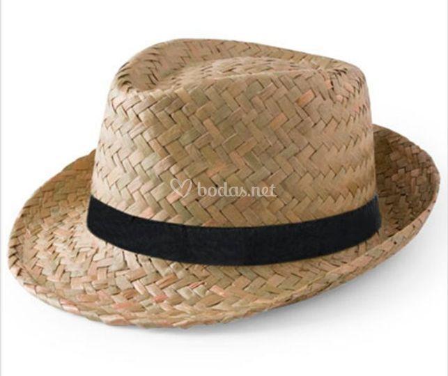 Sombrero paja oscuro