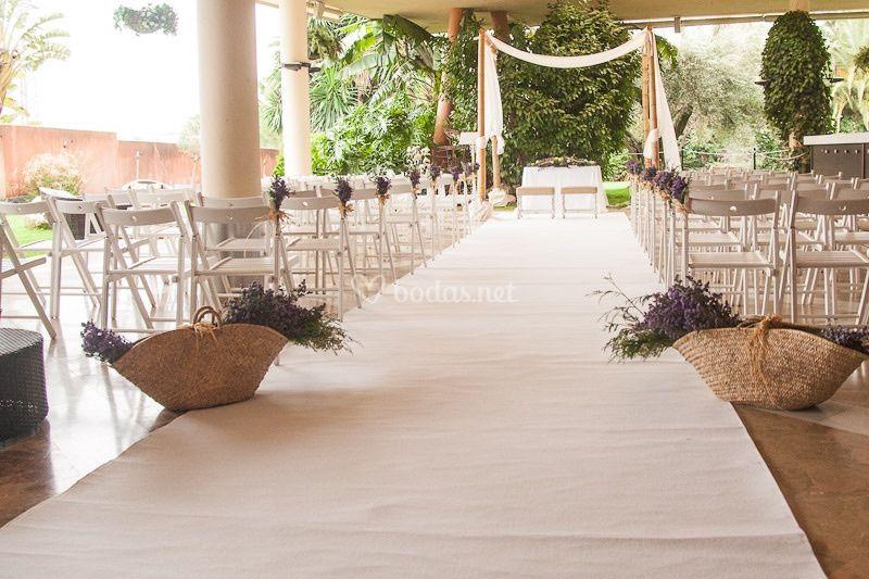 Ceremonia civil cubierta