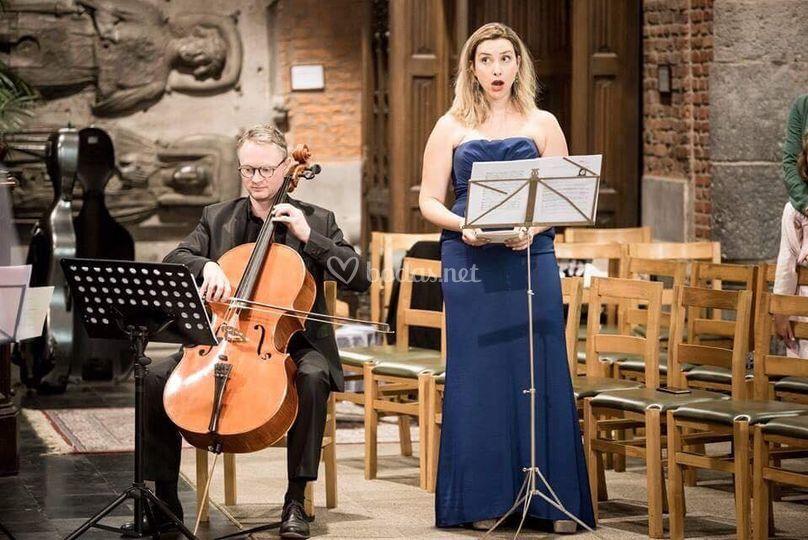 Soprano y cello