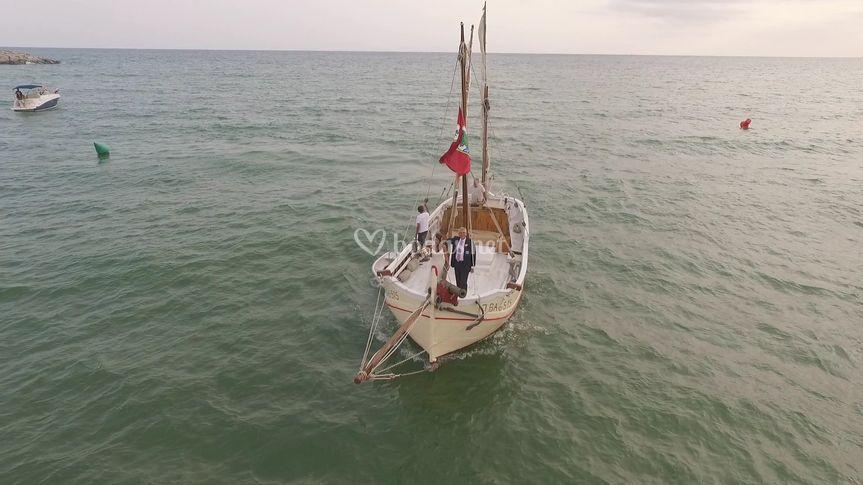Entrada barco nuvia
