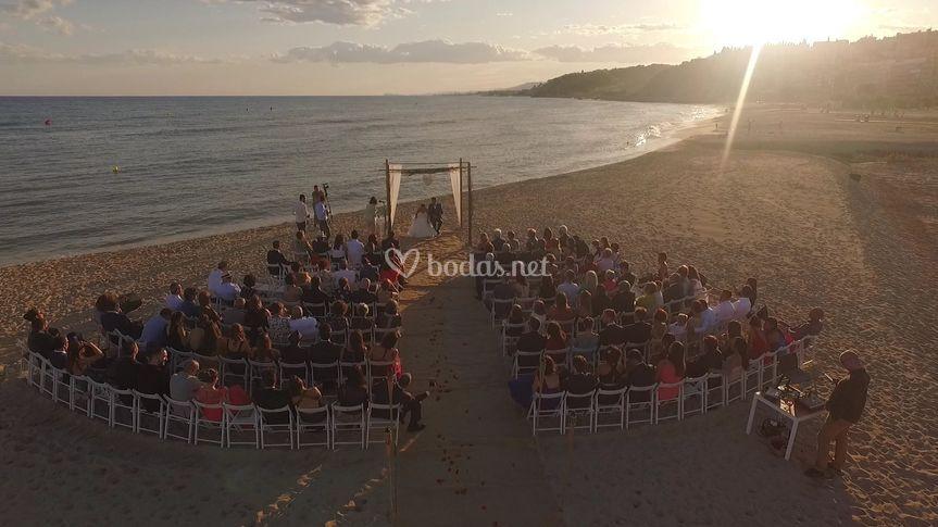 Boda playa Arenys de Mar