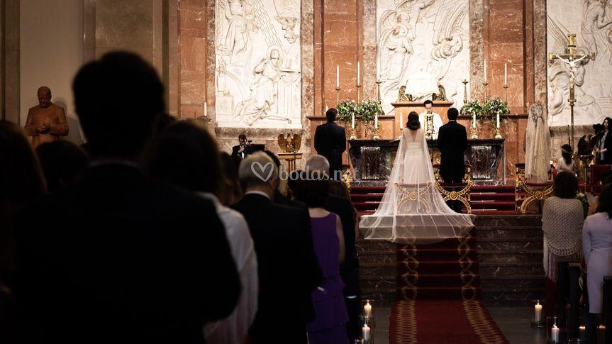 Ceremonia de Alejandra y Pelayo