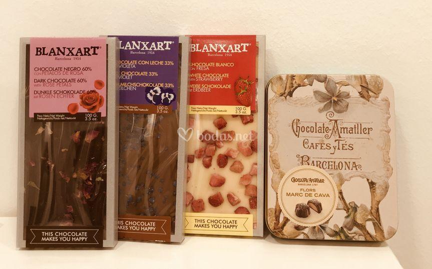 Selección de chocolate