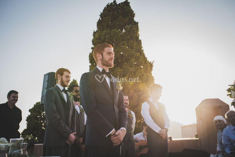 La dulce espera del novia