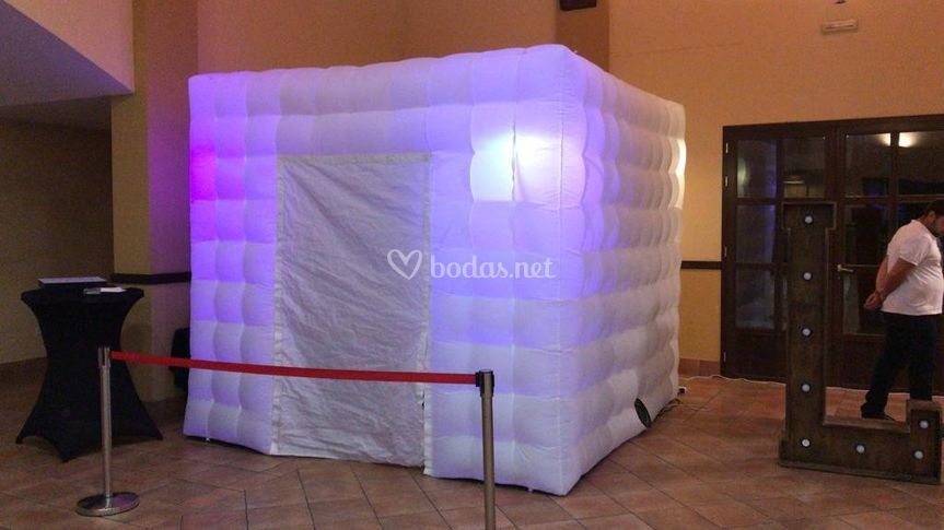 Cabina hinchable led