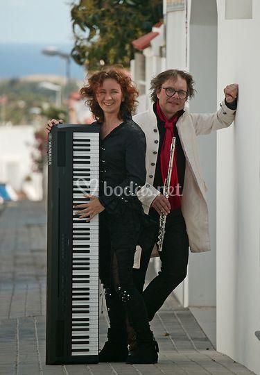 Piano y flauta travesera
