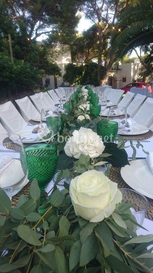 Mesas alargadas de banquete
