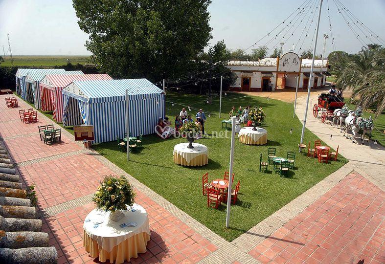 Feria en jardín