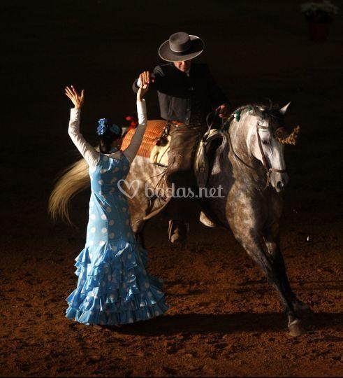 Sevillanas con caballo