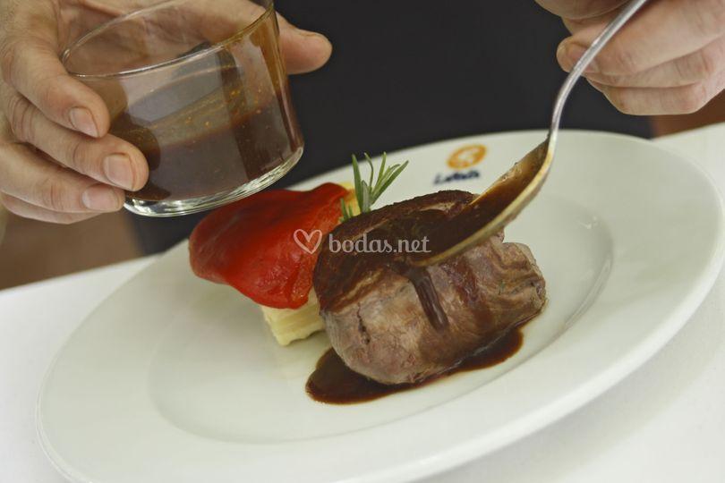 Restaurante la raza - Solomillo de buey ...