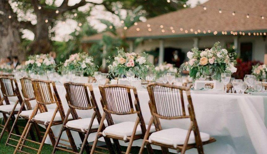 Decoración boda jardínes