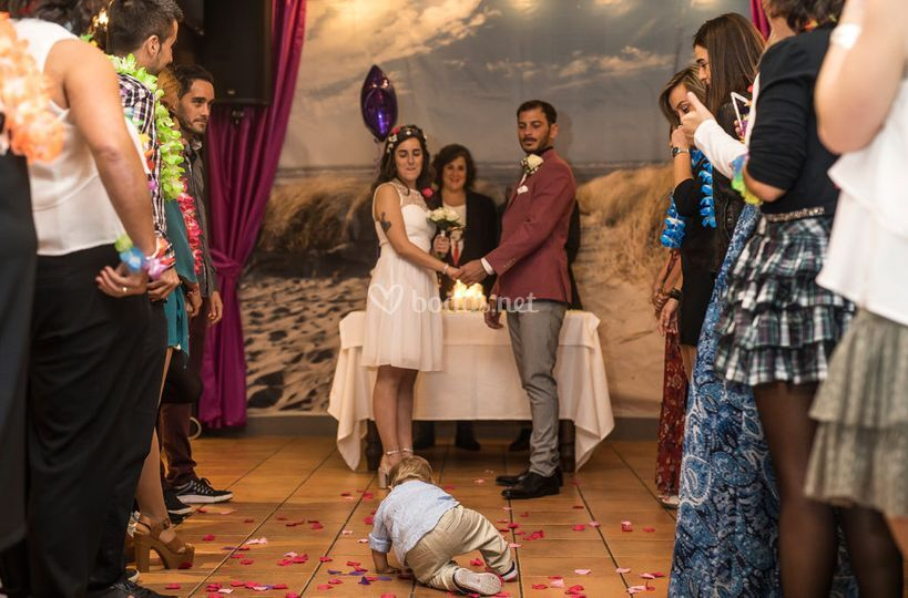 Ceremonia en el restaurante