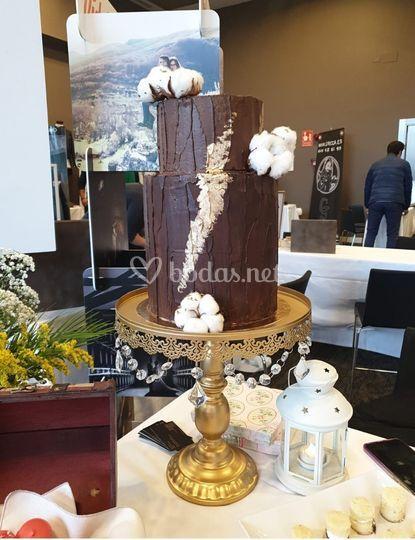 Chocolate y flores algodón