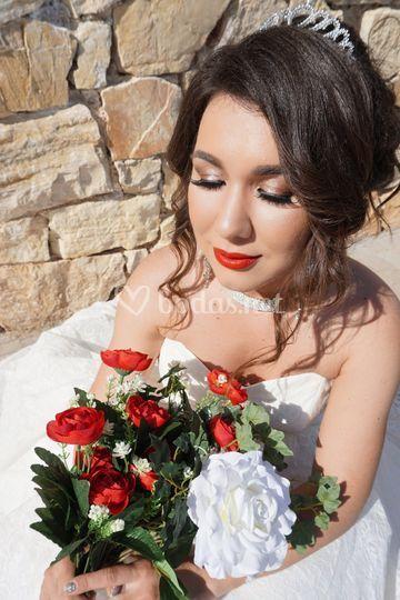 Maquillaje pasión en rojo