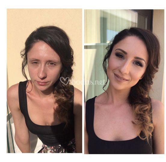Maquillaje y recogido
