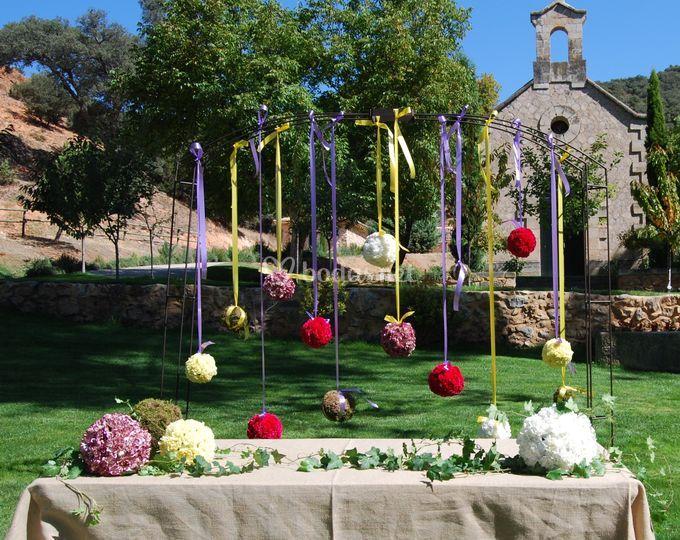 Decoración de boda en Sigúenza