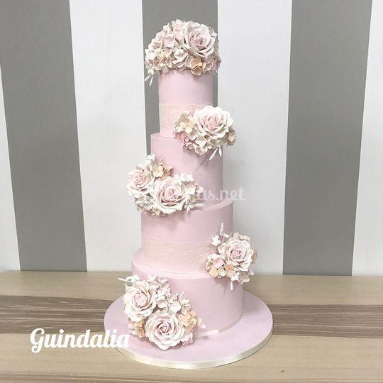 Tarta Nupcial con flores model