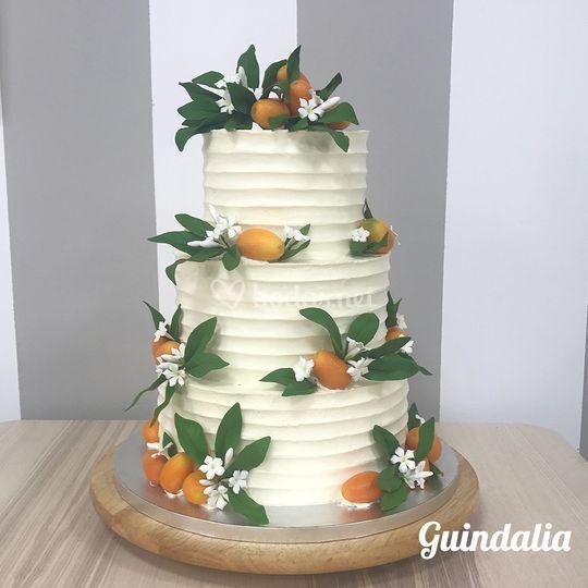 Tarta buttercream con kumquat