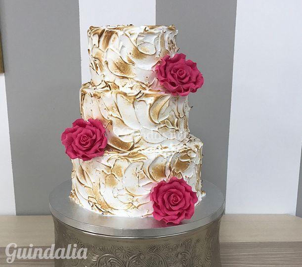 Tarta nupcial de merengue