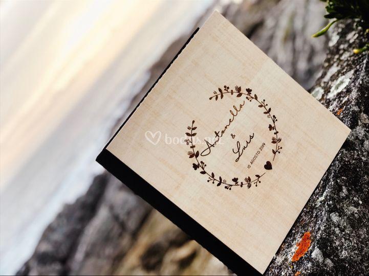 Libros de firma en madera