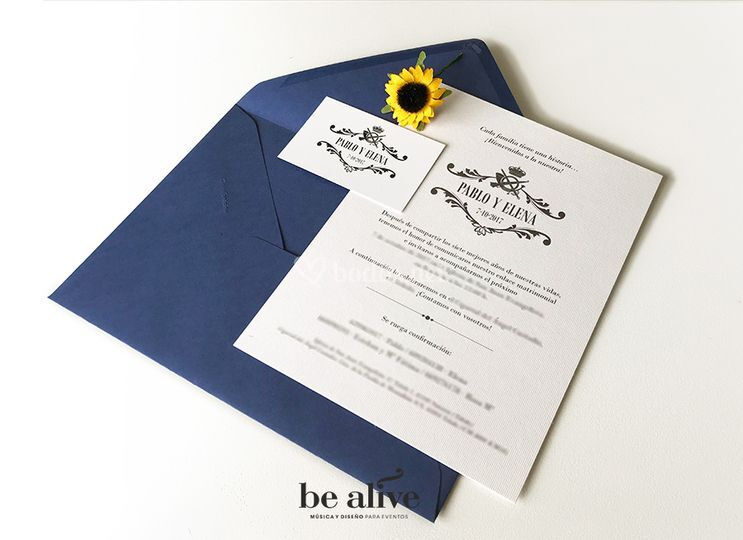 Invitación/lámina + tarjeta