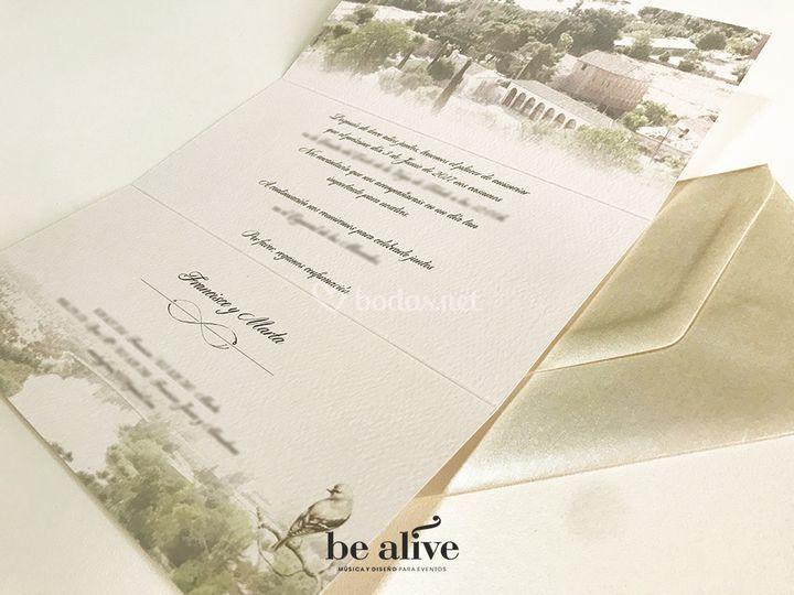 Invitación 3 pliegues