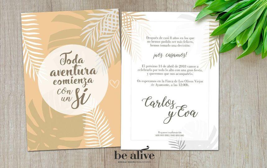 Invitación - lámina frase
