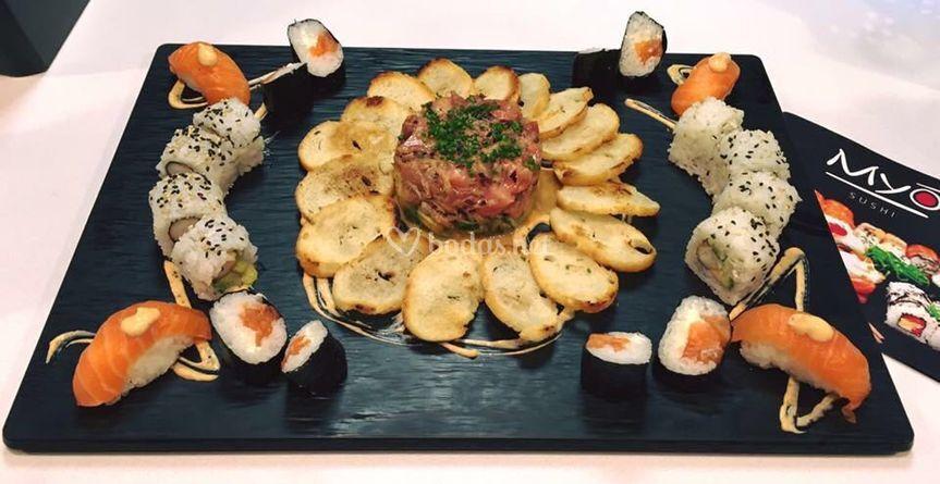 Sushi y tartar