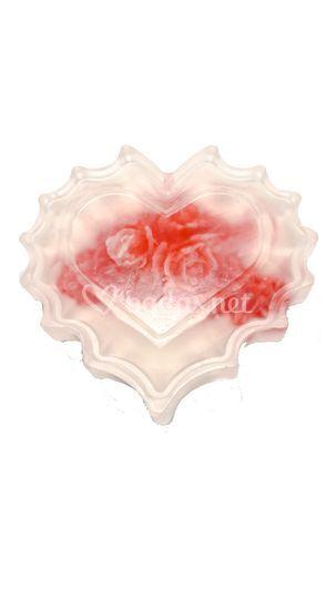 Jabón Corazón Transparente