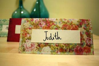 Tarjetas con mensaje para cada invitado