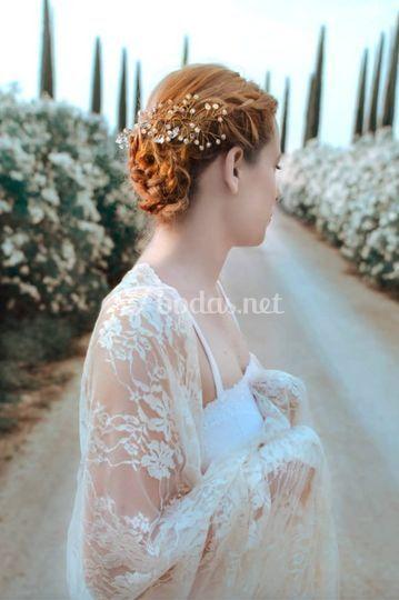 Semicorona silver bridal
