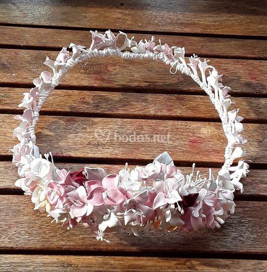 Corona de porcelana novia